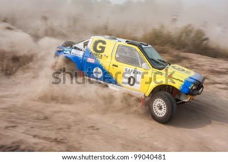 KIEV, UKRAINE - AUGUST 15: Bogdan Novitskiy driving his car at the 5-th stage of the championship of Ukraine \