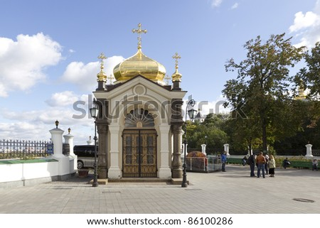 KIEV, UKRAINE - SEPT 1: The Monastery of the Caves on September 1, 2011.  While being a cultural attraction, it is currently active. The monastery complex is inscribed as a UNESCO World Heritage Site.