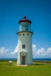 Kilauea Lighthouse, Kauai, Hawaii. Kīlauea Lighthouse is located on Kīlauea Point on the island of Kauaʻi, Hawaiʻi in the Kīlauea Point National Wildlife Refuge. A popular place for bird watching.