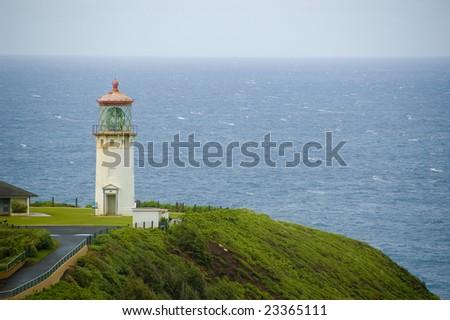 Kilauea Lighthouse on Kauai Hawaii overlooking Pacific Ocean
