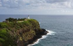 Kilauea lighthouse on the north shore of Kauai, Hawaii.