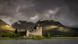 Kilchurn Castle in Loch Awe, Highlands, Scotland