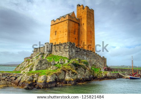 Kilcoe castle on the coast of Co. Cork, Ireland
