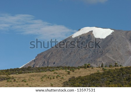 Kilimanjaro, the highest mountain in Africa (5.895 m), Tanzania