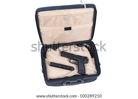 killer case - handgun with silencer