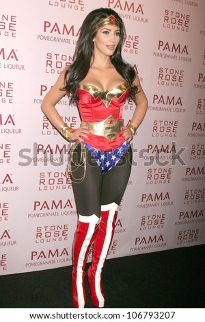 Kim Kardashian  at PAMA's Halloween Masquerade, Stone Rose, Los Angeles, CA. 10-30-08