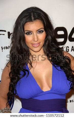 Kim Kardashian at the Debut of 2 B Free Spring 2008 Collection. Boulevard 3, Hollywood, CA. 10-14-07 - stock photo