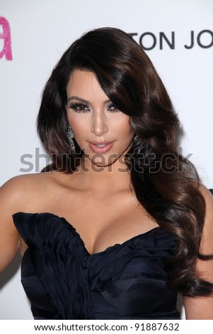 Kim Kardashian  at the 19th Annual Elton John Aids Foundation Academy Awards Viewing Party, Pacific Design Center, West Hollywood, CA. 02-27-11