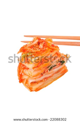 Kimchi isolated on white