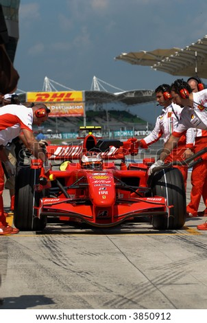 Kimi Raikkonen at Sepang F1 Malaysia 2007 Grand Prix
