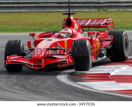 Kimi Raikkonen Turning in Sepang