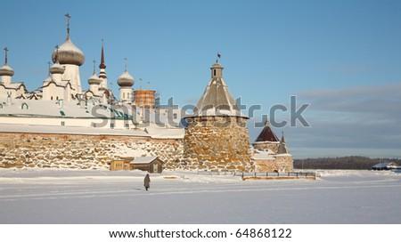 Kind on the Solovetsky monastery. Russia.