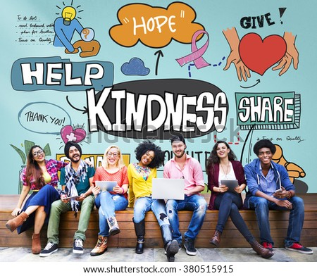 Kindness Kindly Optimistic Positive Giving Concept Photo stock ©