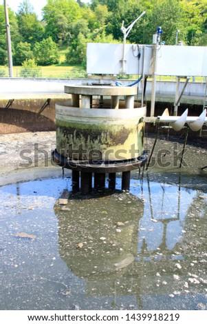 Clarifier (sedimentation tank) in water treatment plant