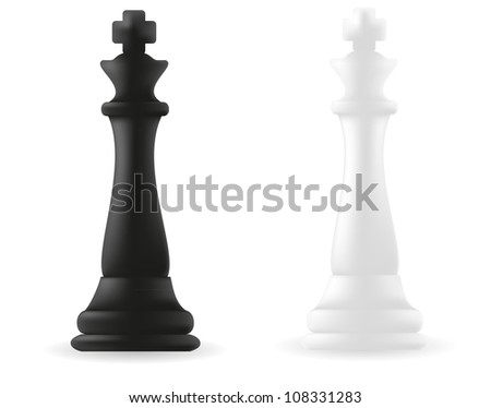 king chess piece black and white illustration