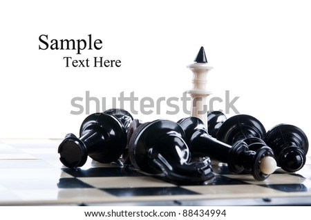 king chess piece isolated on a white background