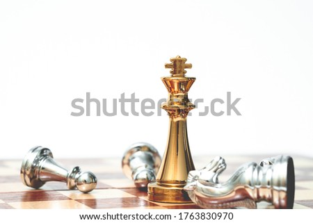 King chess take over all the enemies. Business strategy and competitive concept. Stock photo ©