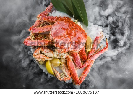 king crab on a dry ice #1008695137