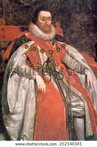King James I (1566-1625), ruled England 1603-1625.