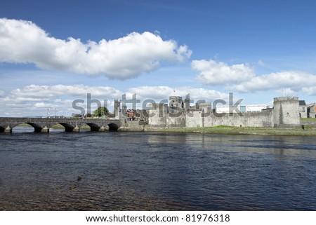 King John Castle in Limerick, Ireland.