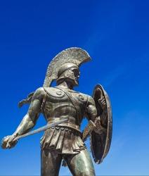 King Leonidas statue in Sparta Greece