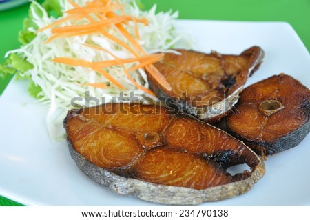 King mackerel, Spotted mackerel, Seerfish fried with fish sauce