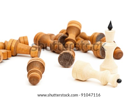 king of a chess game isolated on a white background symbol of a leader