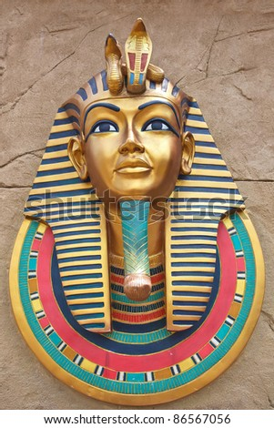 king pharoah color on rock background