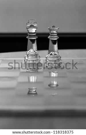 King & Queen chess piece - business concept series - strategy, business woman, power, ambition, equality, success.