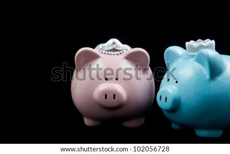 King & Queen Piggy Banks
