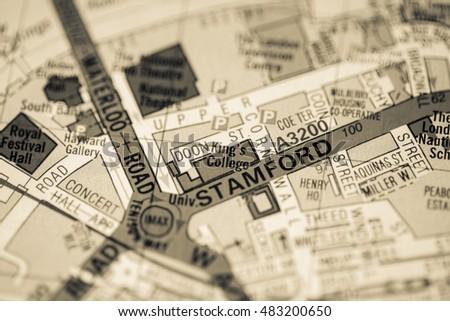 Kings College London Map.King S College London Uk Map Ez Canvas