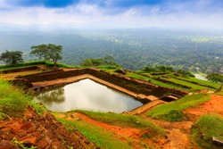 king's swimmig pool in Sigiriya. Sri Lanka