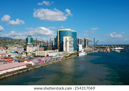 King's Wharf in Port of Spain at Trinidad  Stock photo ©