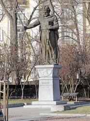 King Samuil's monument in Sofia. Monument to Tsar Samuil in Sofia, Bulgaria.