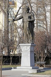 King Samuil's monument in Sofia. Monument to Tsar Samuil in Sofia, Bulgaria.