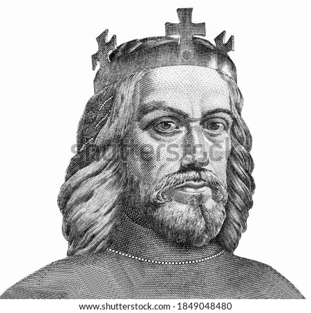 King Stephen I  Portrait from Hungary 10000 Pango 2015 Banknotes.