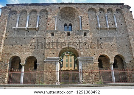 King Theodoric palace facade. The palace built in the year 400 is one of the city tourist attractions.