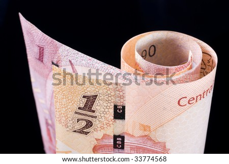 Kingdom of Bahrain currency banknote roll