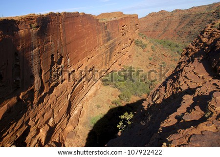 Kings Canyon or Watarrka National Park in the Red Centre of Australia, a favorite tourist destination, breathtaking landscape.