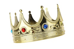 Kings crown cutout, isolated on white background
