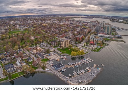 Kingston is a Canadian Town on the Shore of Lake Ontario with a large University and Hospital Imagine de stoc ©
