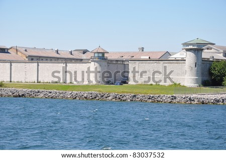 Kingston Penitentiary, a federal maximum security institution for offenders serving over 2 years in Kingston, Ontario in Canada