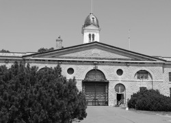 Kingston penitentiary in black and white