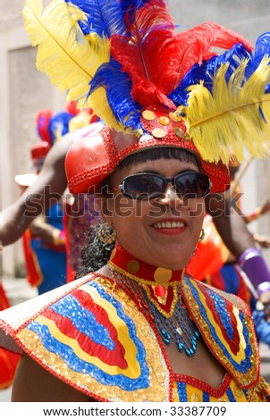 Kingstown - July 7: Reveler Enjoys Carnival, One Of The ...