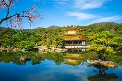 kinkakuji at Rokuonji, aka Golden Pavilion located in kyoto, japan