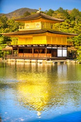 Kinkakuji (Golden Pavilion),a Zen temple in northern Kyoto, Japan.