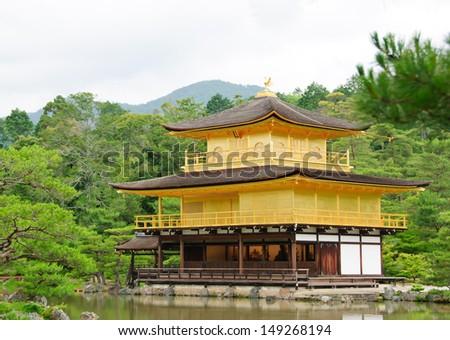Kinkakuji Temple (The Golden Pavilion) famous place in Kyoto, Japan