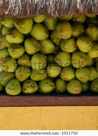 Kiosk of coconut sale