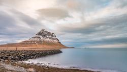 Kirkjufell Mountain Iceland Nature Sky Scenic