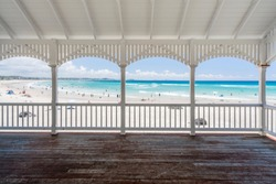 Kirra Beach hut on the Gold Coast, Queensland, Australia.